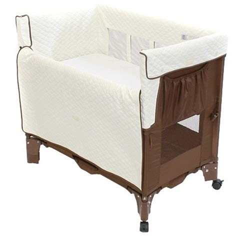detail of arm s reach co sleeper mini bassinet convertible