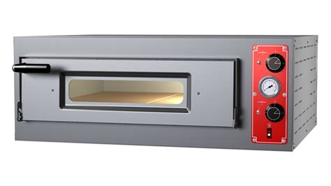italian pizza oven single deck 4 12 quot with thermometer