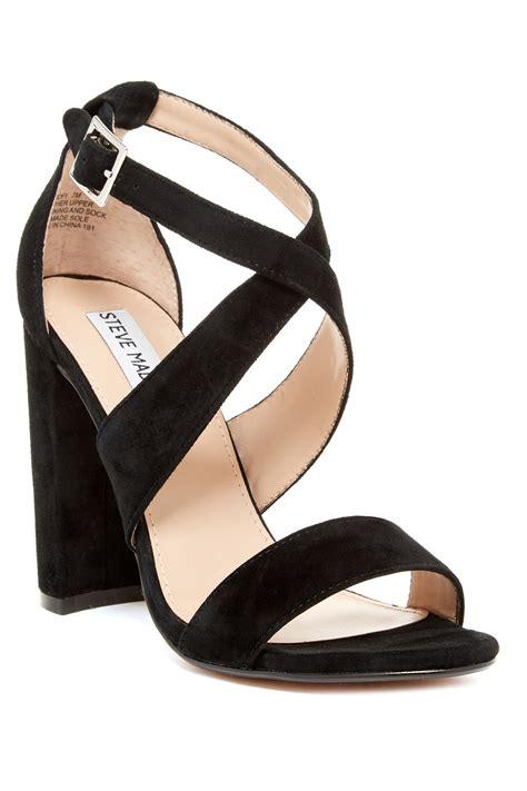 steve madden heel sandals steve madden caliopi block heel sandal in black lyst