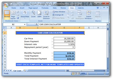 how to calculate house loan payment loan payment calculator excel template simple interest