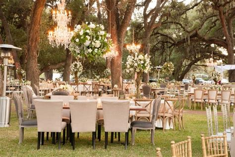 glamorous outdoor wedding  rustic rose gold details