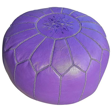 Moroccan Leather Pouf Or Ottoman Great Low Seating For Moroccan Pouf Ottoman Sale