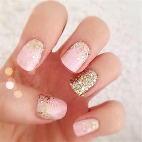 easy nail art glitter 70 stunning glitter nail designs wedding manicure gold