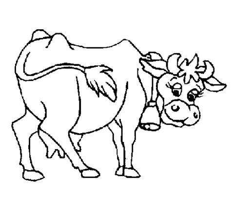 imagenes para colorear vaca dibujo de vaca 2 para colorear dibujos net