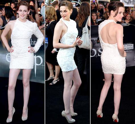 10 Kristen Stewart In Minis Sizzling Looks by Get A 360 Degree View Of Kristen Stewart S White Mini At