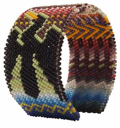 beadwork sioux beadwork bracelet quot peyote stitch quot medium bracelet