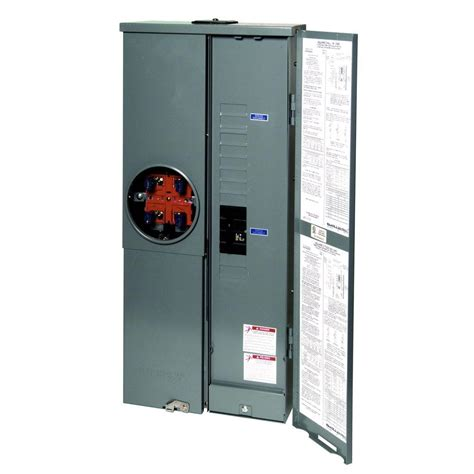 outdoor electrical panel square d homeline 200 amp 8 space 16 circuit outdoor ring type overhead underground surface