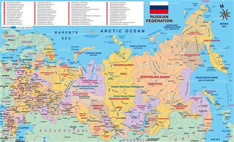 atlas and maps map of russia politically map in the atlas of the world