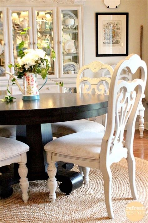 How To Paint Dining Room Furniture 25 Best Ideas About Painted Dining Chairs On Pinterest Dining Room Colors Dining Room Drapes