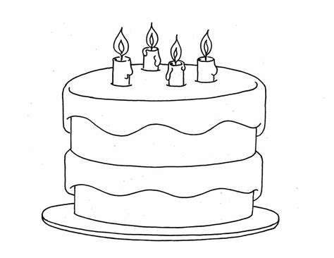 easy birthday coloring pages birthday cake color pages activity shelter