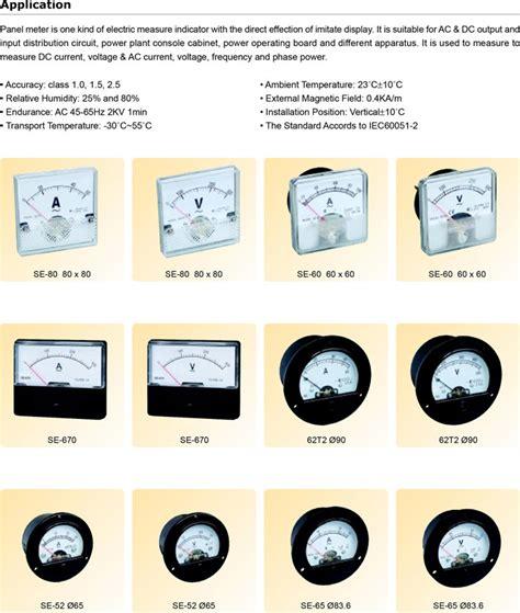Voltmeter Analog Electric Merk Masda Berkualitas 48x48 72x72 96x96 volt frequentie power factor kw kvar