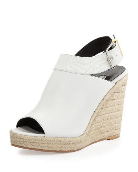 balenciaga wedge sandals balenciaga slingback glove wedge sandal in white lyst