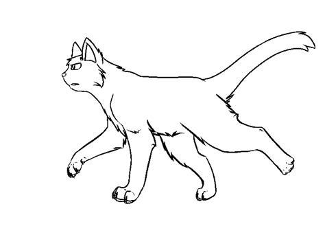 warrior cat lineart i think by xeekyxeek on deviantart
