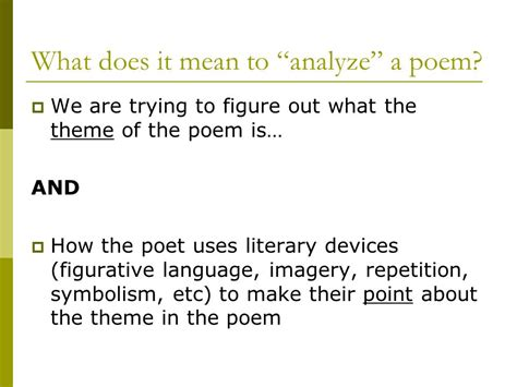 meaning and themes of poetry poetry analysis essay ppt video online download