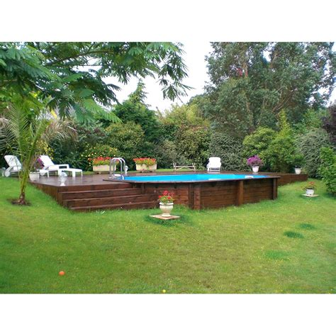 Piscines Hors Sol Bois piscine hors sol bois samoa xl l 5 05 x l 3 55 x h 1 3 m