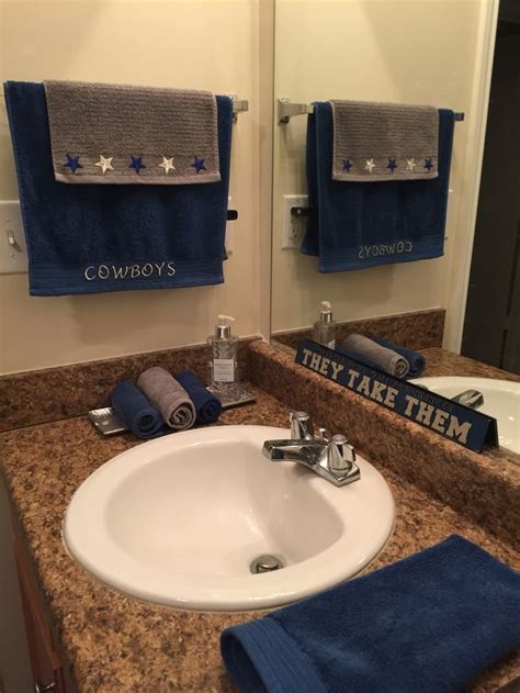 dallas cowboys bathroom accessories sports themed bathroom decor bathroom sports themed decor
