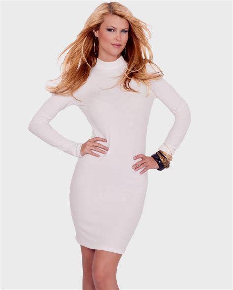Turtleneck Mini Sweater Dress mini sweater dress naf dresses