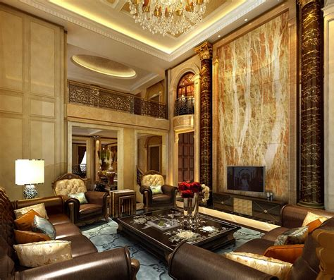 luxury living room design design european luxury villa living room