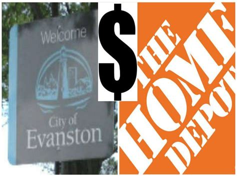 evanston claims the home depot owes city thousands