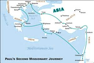Of paul the apostle s second missionary journey in the new testament