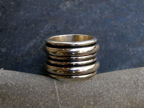 Designer Ringe by Designer Ring Silber 925 Poliert Klingelring Ring In Ringe