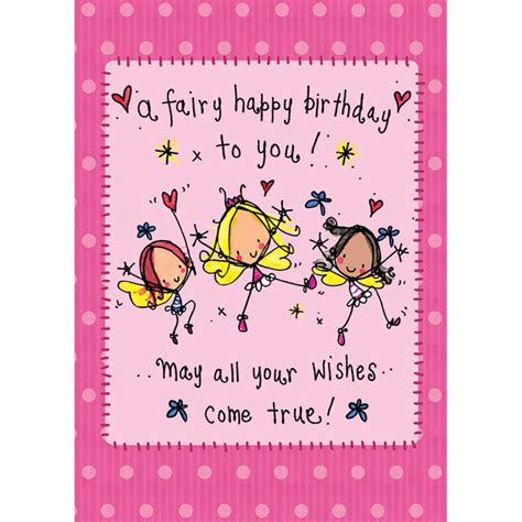 A Fairy Happy Birthday To You May All Your Wishes Come