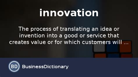with innovations what is innovation definition and meaning