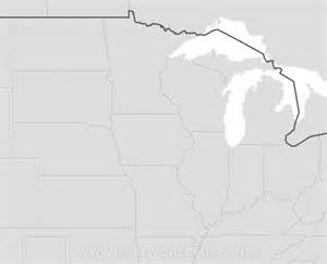 blank us map midwest region blank map midwest states