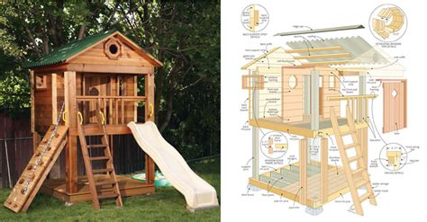 swing set playhouse plans playhouse plans on pinterest swing sets play houses and