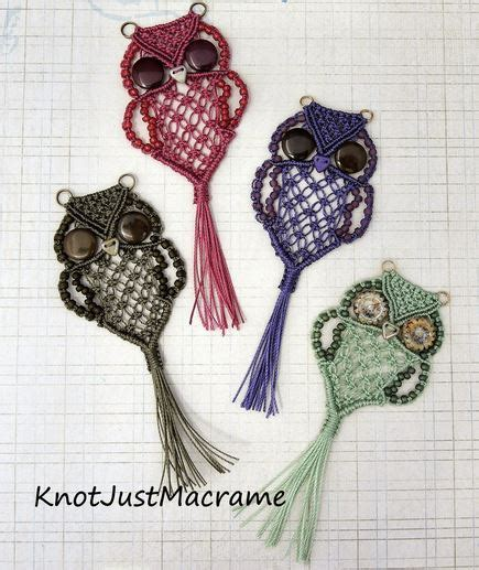 Macrame Animal Patterns - macrame owl necklace the whoot