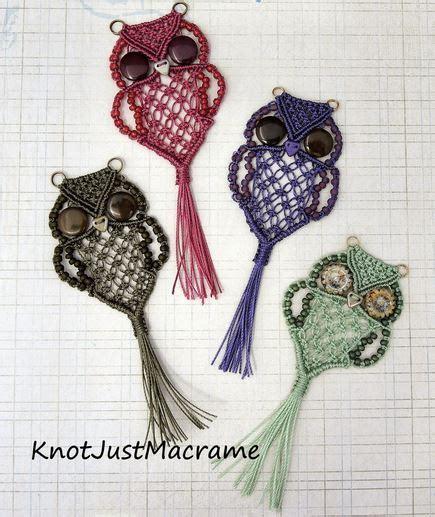 Free Micro Macrame Patterns - wonderful diy macrame owls