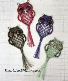 Macrame owl necklace instructions and video the whoot