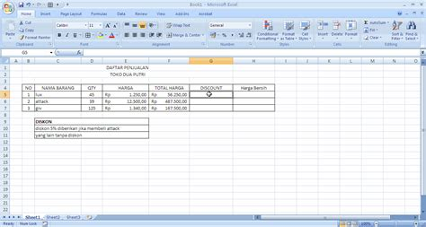 excel tutorial using the if and and or functions tutorial excel discount menggunakan if bukan dian pelangi