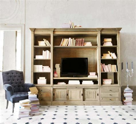 agréable Maison Du Monde Meuble Tv #1: meuble-TV-bibliotheque-en-bois-800x730.jpg?x99323