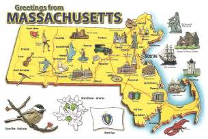 Massachusetts On A Map by Pictorial Travel Map Of Massachusetts