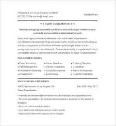 event planner resume template 11 free samples examples