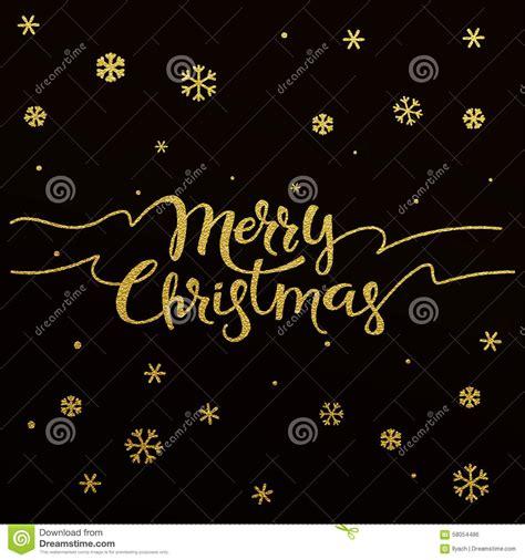 gold lettering design  card merry christmas stock vector illustration  foil calligraphy