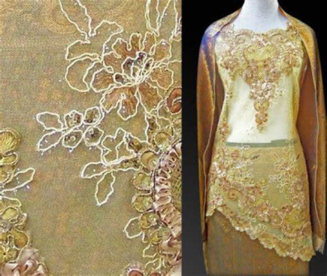 Set Kebaya Jadi Tile Aurel by Kebaya Kurung Tile Miring Gold