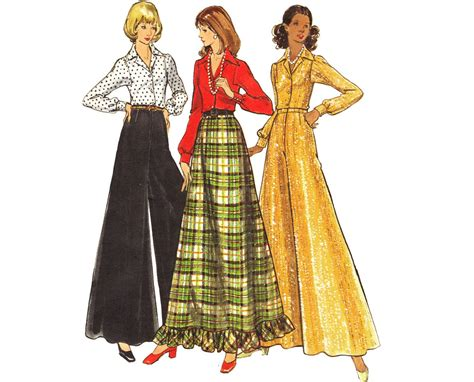 pattern for a line maxi skirt vintage 70s a line maxi skirt sewing pattern palazzo pants
