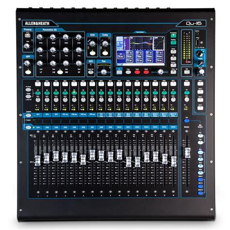 Mixer Allen Heath Digital allen and heath qu 16 digital mixer chrome edition at