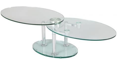 Tables Basses De Salon En Verre by Table Basse De Salon Ovale En Verre Table Basse Design