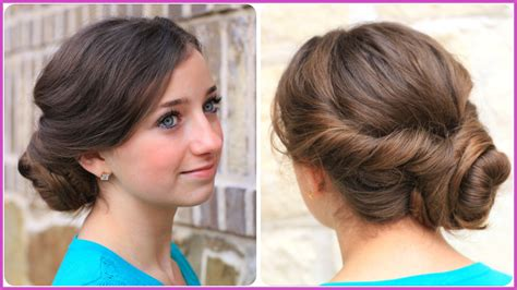 easy and simple prom hairstyles how to make easy twist updo prom hairstyle