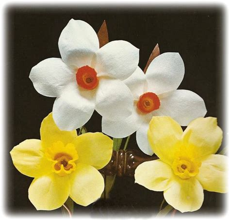 Paper Daffodils - how to make paper daffodils and narcissi