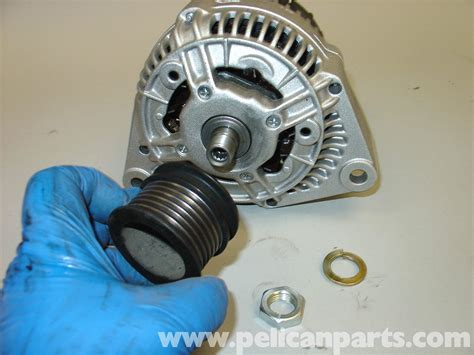 Bearing Pulley Vario mercedes w210 alternator replacement 1996 03 e320 e420 pelican parts diy maintenance