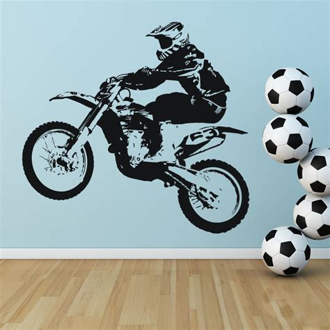 dirt bike transport sports and hobbies wall sticker wall transfers ebay