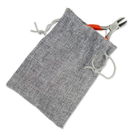 Mini 3 Juta kit di 3 mini pinze in un sacchetto imitazione tessuto di juta perles co