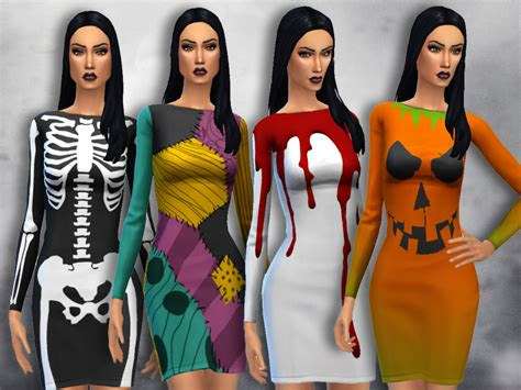 sims 4 halloween costumes sentate s mortem dress