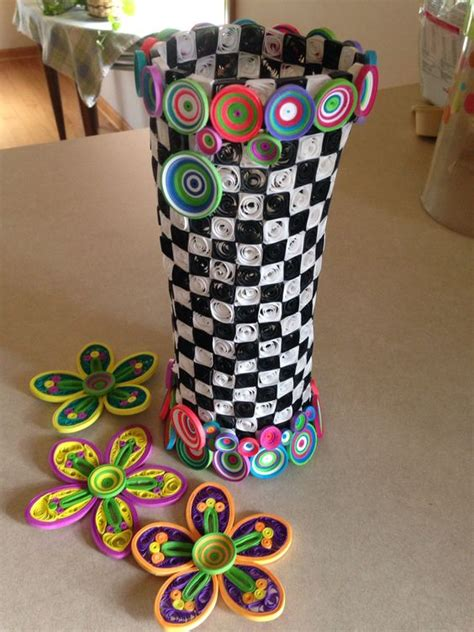 quilling vase tutorial my first quilling project almost complete whimsical