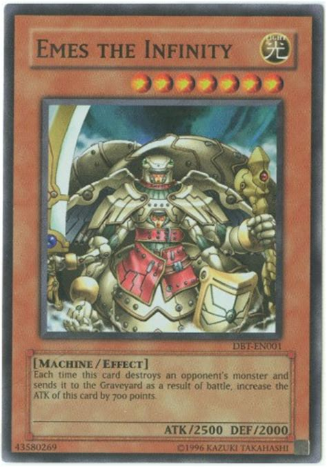 yu gi  card dbt en emes  infinity super rare