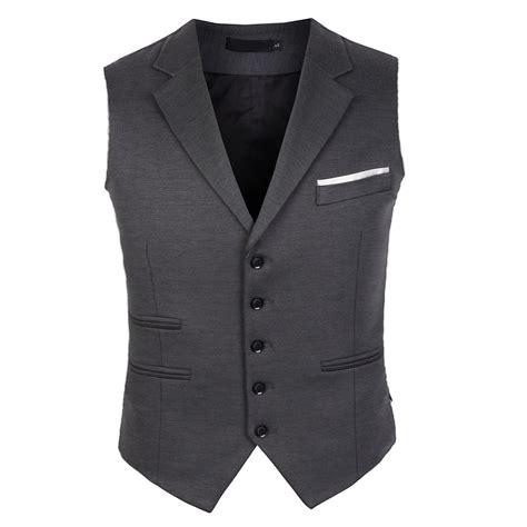Lapel Vest men s notch lapel slim vest coat waist coat